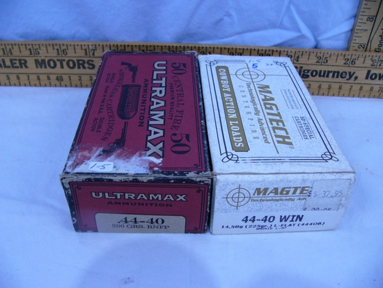 Ammo: 2 boxes 44-40 Win , Ultramax Center Fire & Magtech Cowboy Action, 50 rds - 2x$