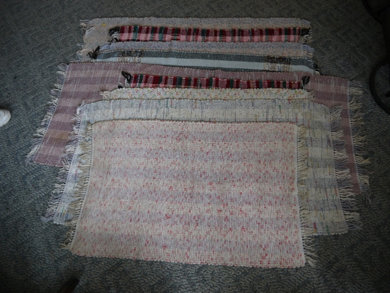 """9 rag rugs - approximately 26"""" x 38"""" to 64"""""""