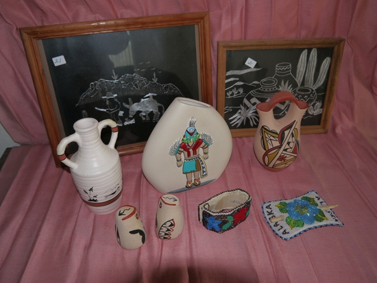 Assortment of Indian related items
