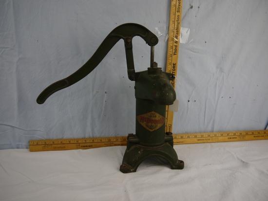 "McDonald pitcher pump, 15-1/2"" tall"