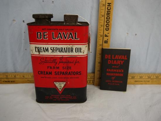 De Laval:  tin  & 1939 Diary & Farmer's Handbook