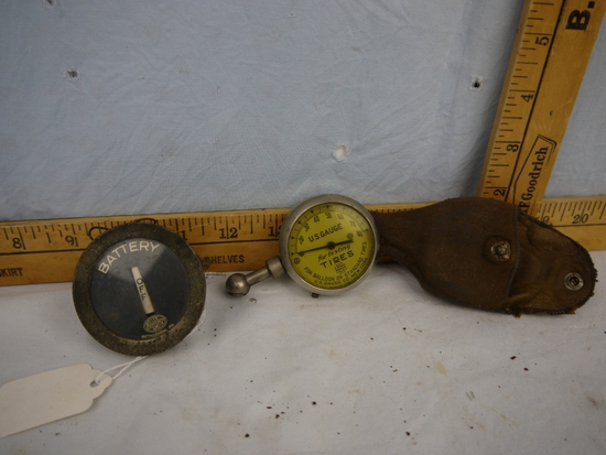 (2) testers:  U.S. Gauge for tires (with leather case) & Roller Smith for battery