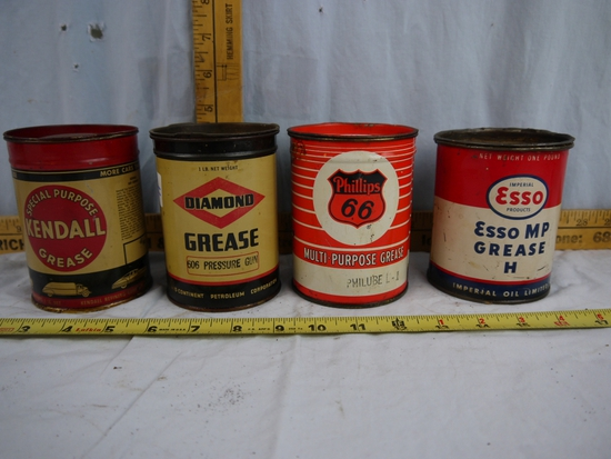 (4) one pound cans of grease, partial cans
