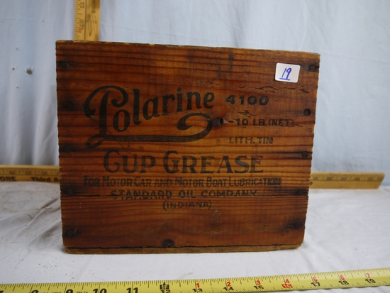 Polarine Cup Grease 10 LB. wooden crate