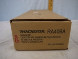 Ammo: 500 rounds Winchester Ranger .40 S&W, 165 gr, Bonded JHP - AOM