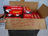Ammo: 1000 rounds Federal American Eagle .223, 50 gr, flat base HP - AOM