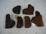 (6) Wright Leather Works holsters - new or like new