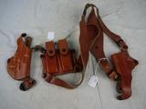 (2) De Santis leather holsters - new