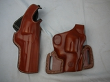 (2) leather holsters for S&W N Frame: De Santis 016 15 & Galco F119 WC SIL126