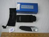 Benchmade BARRAGE M390 folding knife with sheath - NIB