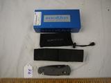 Benchmade MINI-BARRAGE CMP-S30V folding knife with sheath - NIB