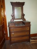 Deep well dresser with candle holders, 2 hanky drawers