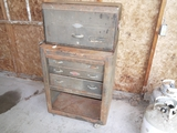 Craftsman rolling tool box, old style, with mostly screw drivers