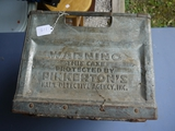 Galvanized milk crate, Sealtest 4-60 protected by Pinkerton's Nat'l Detective Agency