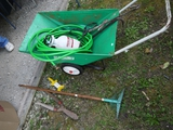 Coast-Way yard cart, garden hose sprayer, lawn & garden tools