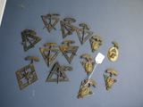 Knights of the Pythias pins - 13 total, mostly different