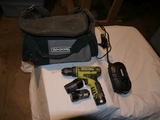 Rockwell rechargeable drill w/3 batteries, charger & carry case