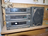 RCA shop stereo system, tape deck disc deck, radio & speakers work & small RCA TV