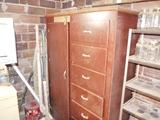 Storage cabinet with 6 drawers & 1 door
