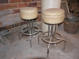 2 old style bar stools, 29-1/2
