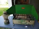 Coleman camp stove and lantern