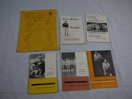 6 Iowa athletics press guides