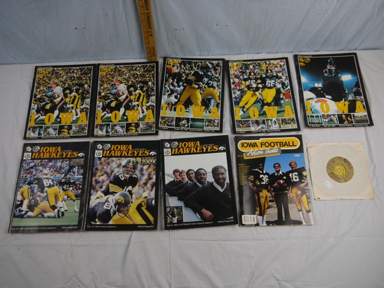 10 Iowa Football  programs, etc