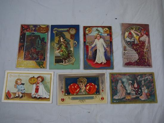 7 Halloween postcards
