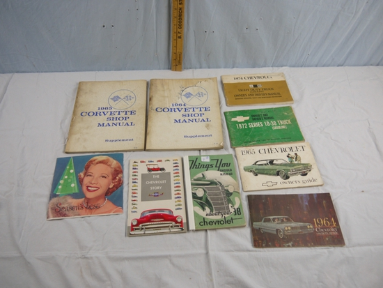 9 Chevrolet promotional and owner's manuals