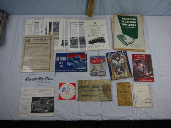 17 oil, gas, and automotive advertising and manuals