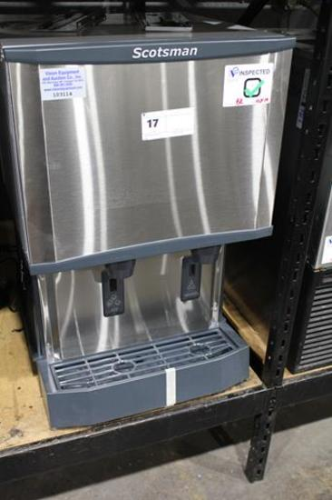 NEW SCOTSMAN HID525A-1A COUNTERTOP ICE MACHINE AND WATER DISPENSER AIR COOLED