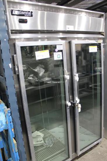 NEW CONTINENTAL 2RNSSGD 2-GLASS DOOR COOLER