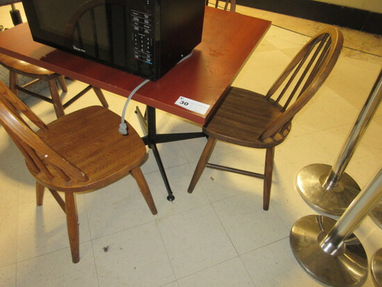 TABLE W/4 CHAIRS - ONE LOT