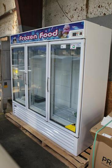 NEW TURBO AIR TGF-72F 3-GLASS DOOR FREEZER