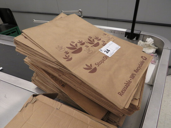 PAPER BAGS - ONE LOT