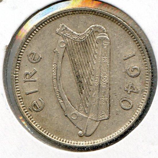 Ireland 1940 silver florin XF