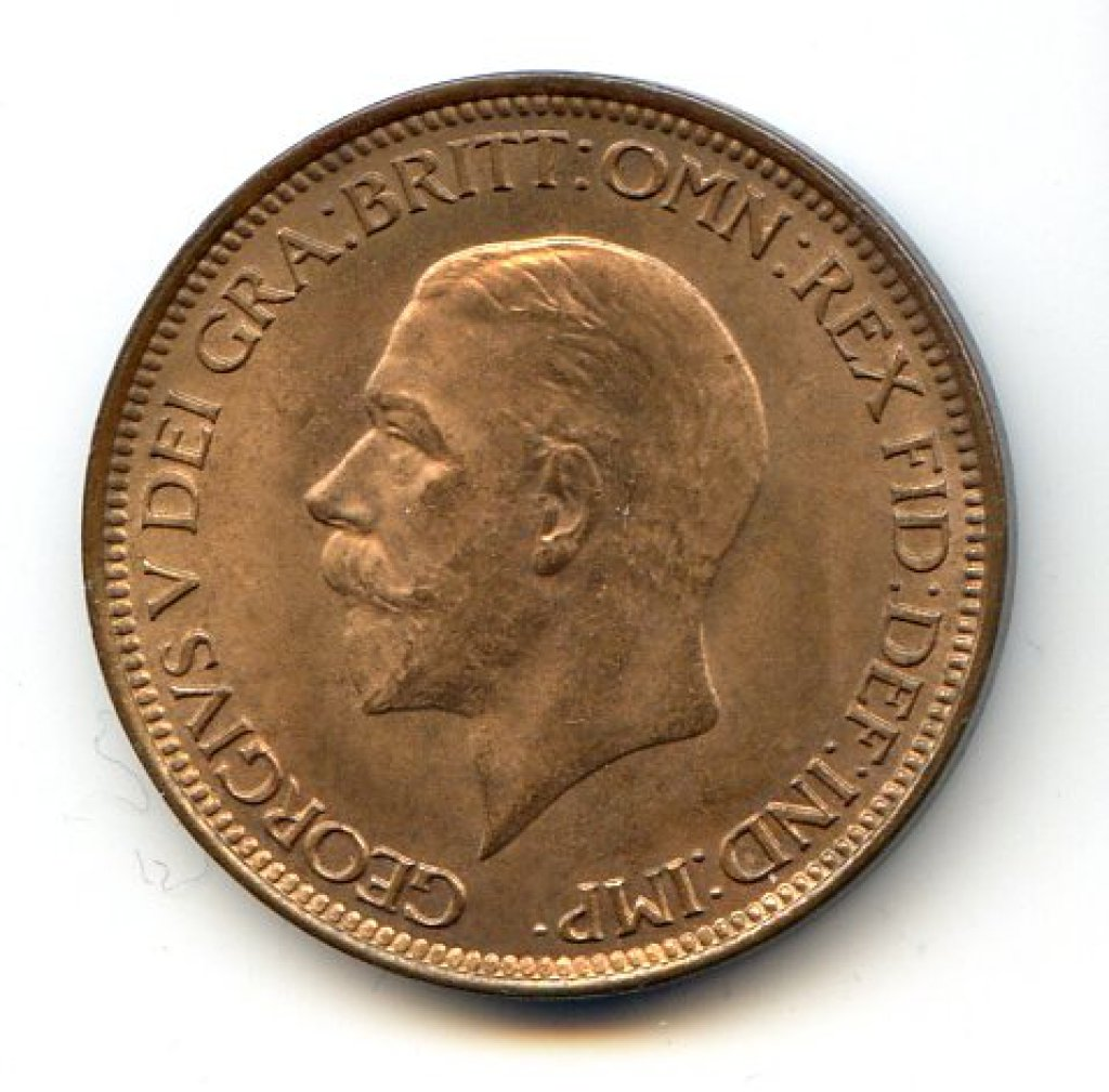 Great Britain 1929 half-penny UNC RB