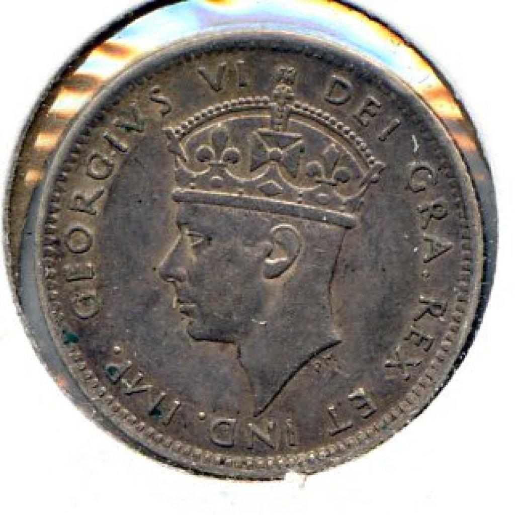 Newfoundland 1940 silver 10 cents XF