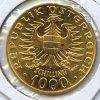 Austria 1976 GOLD 1000 schillings Babenberger BU