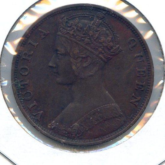 Hong Kong 1876 1 cent XF