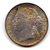 Straits Settlements 1900 silver 10 cents toned UNC Image 1