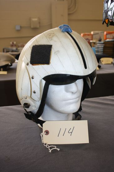 """FIGHTER PILOT HELMET FROM THE """"CARL VINCENT"""" CIRCA 1970'S"""