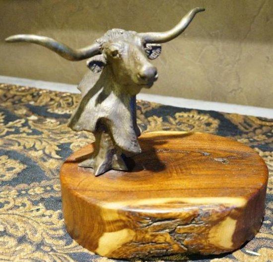 Long Horn Steer bust