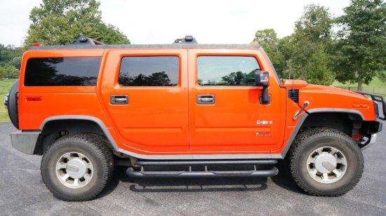 2008 Orange H2 Hummer