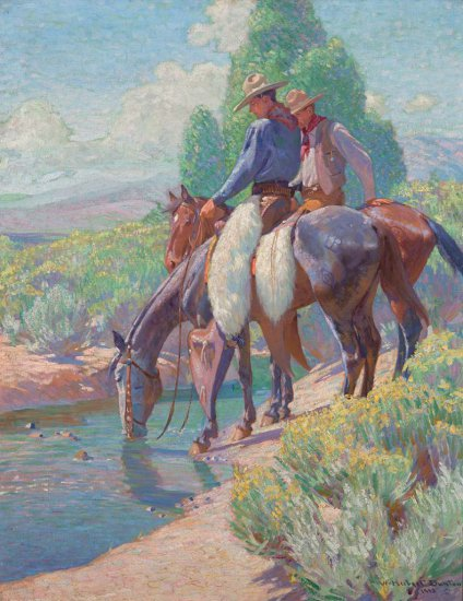 Watering the Horses, 1913