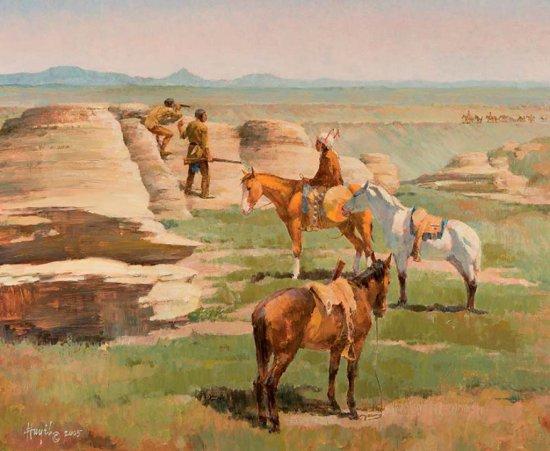 Blackfeet Scouting the Lewis Party - 1806