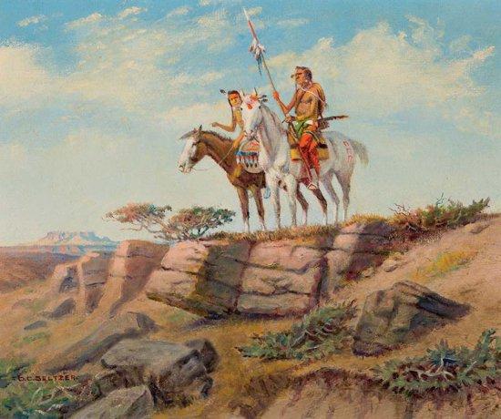 Two Warriors on Horseback