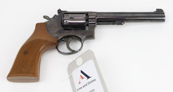 Smith & Wesson 14-3 double action revolver.