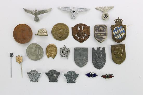 German WWII Tinnies And Other Pins