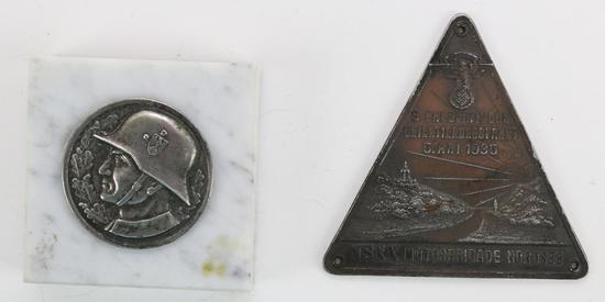 German WWII Plaques